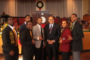 Gamma with VUU President Claude Perkins