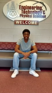 A picture at Alabama A&M where Brian Crum received a full ride scholarship