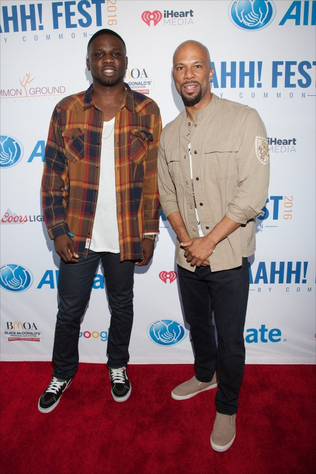 Luke Lawal Jr. & Common at AAHH fest 2016