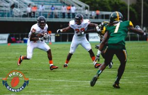 VSU RB Trent Cannon carries the ball. Photo by Michael Peele.