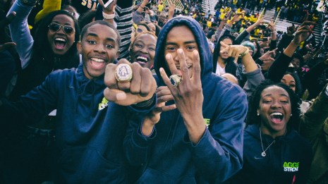 Even the student section has rings