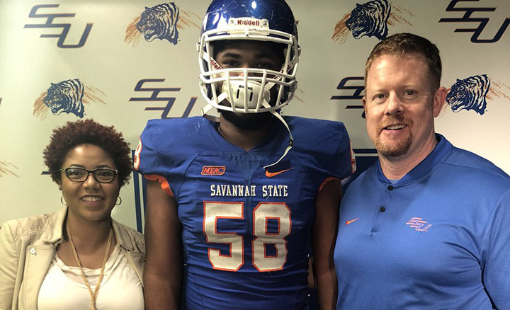 Savannah State football commit bravely battling cancer