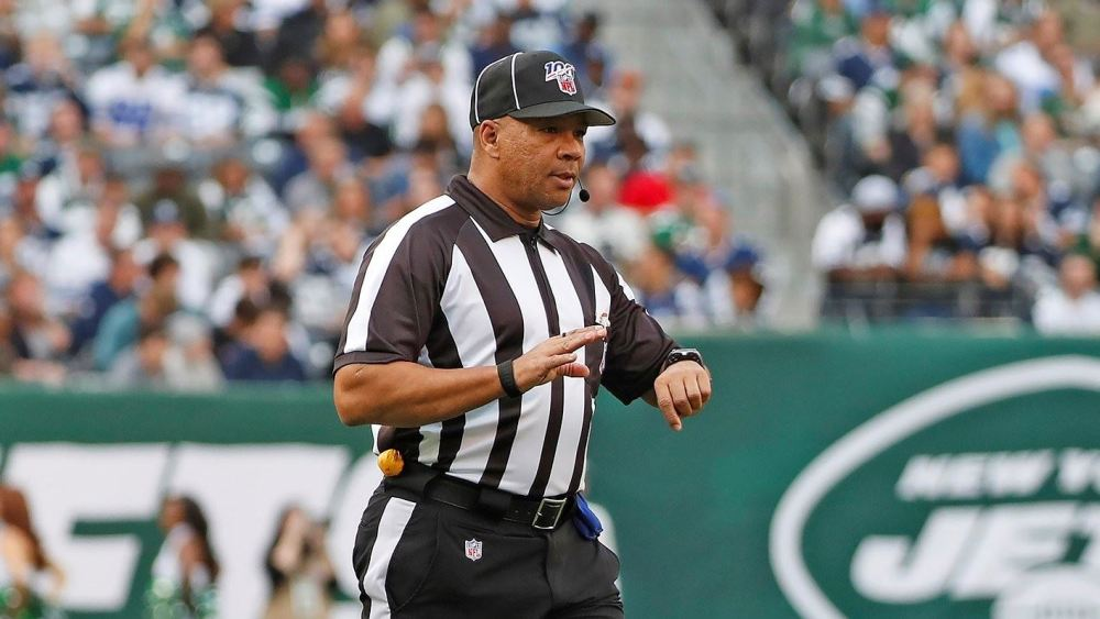 Greg Steed was one of seven black referees to call the Monday Night Football game.