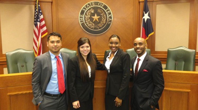 HBCU Law Schools: Members of the Thurgood Marshall law school mock trial team.