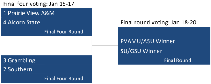 Final four voting