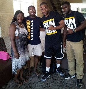 HBCU Voyager with Alabama State University students in the Student Center