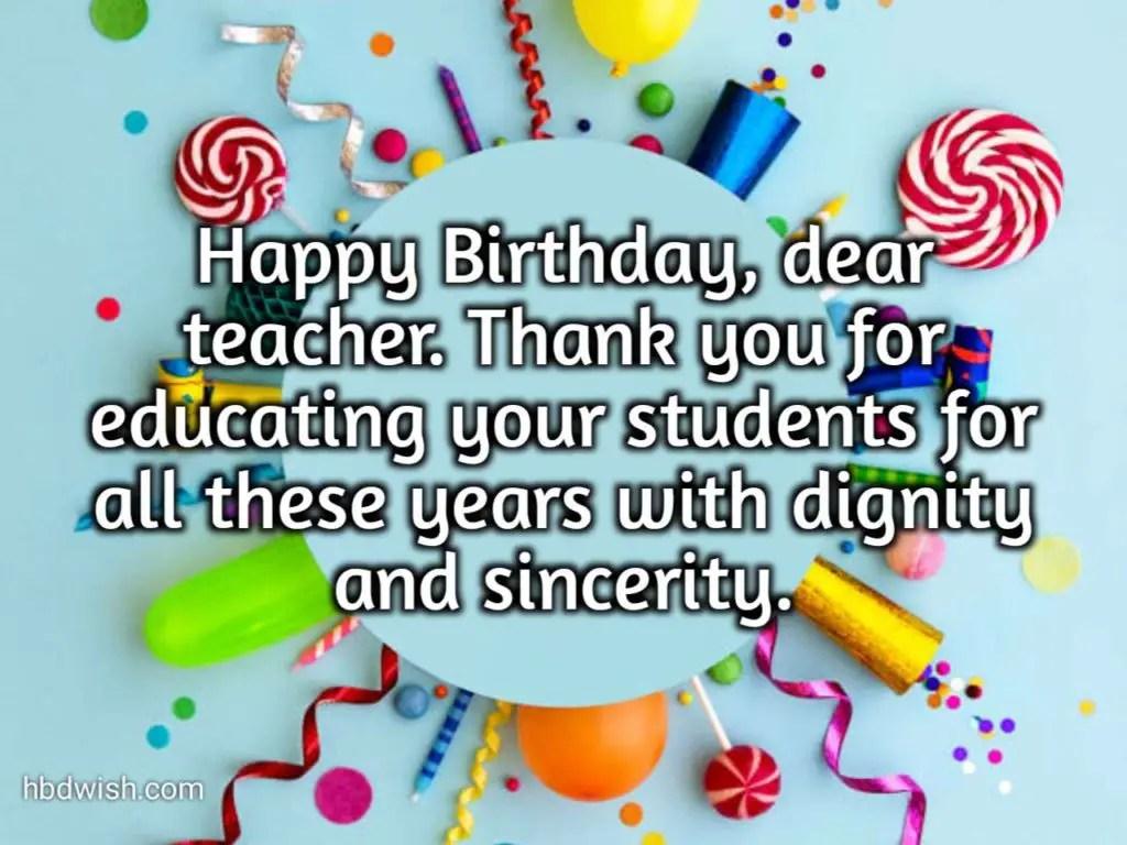 Latest Birthday Wishes For Teacher 2021 Birthday Quotes Hbd Wish