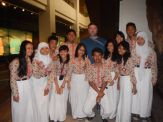 With a school group at the National Museum (Jakarta, 2014)