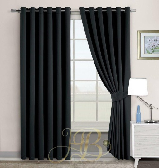Imported Malai Velvet Curtains Maroon Black