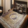 Quilted Bridal Bed Spread 8 Pcs 5