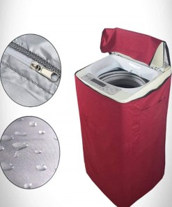 red washing machine cover