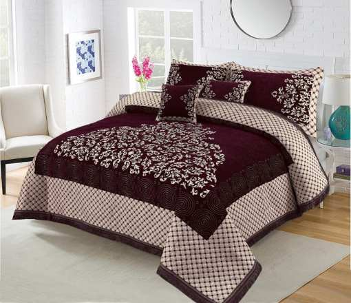 Four Border Velvet Bed sheet 03