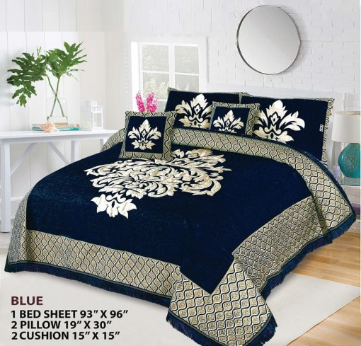 Four Border Velvet Bed sheet 17