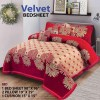 Four Border Velvet Bed sheet 27