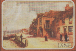 RESORT: An early colour picture of The Ship Inn