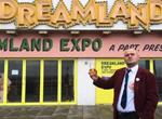 Al Murray outside Dreamland in Thanet