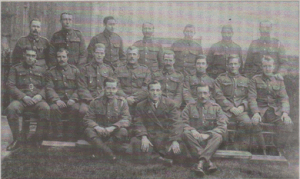 Frank Hougham with, it is believed, former POWs at Herne Bay sea front In 1919. He is seated on the far left