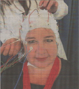 Head teacher Frances Nation is wired up