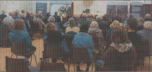 FACE TO FACE: The 'new' Thanington meeting, with developer Mark Quinn explaining his proposals