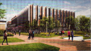The proposed new Templeman Library, on which work has already begun