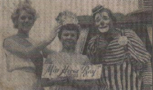 FRIENDS: Carol, Junior Miss Herne Bay and Smokey the Clown in 1963