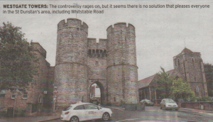 WESTGATE TOWERS: The controvesy rages on, but it seems there is no solution that pleases everyone in the St Dunstan's area, including Whitstable Road