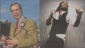 FACE OFF: Nigel Farage and Russell Brand