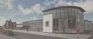 An Aldi supermarket is planned for a site in King's Road, Herne Bay, where travellers briefly parked their caravans