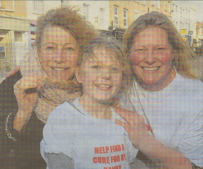 PROUD: Helen Bennington with her granddaughter Sky Chattendon and daughter Gayle