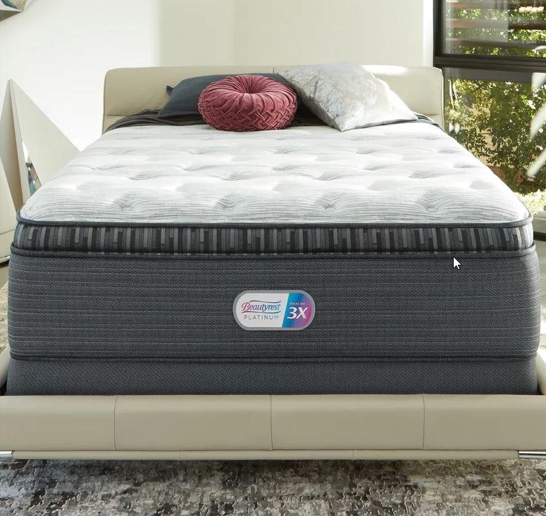 beautyrest platinum grantbury port luxury firm pillow top mattress flat foundation