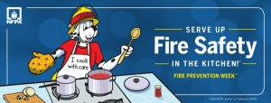 Fire Prevention Week Graphic with Sparky the Dog