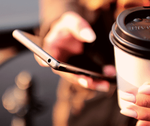 Stealing extra moments of productivity with coffee in hand