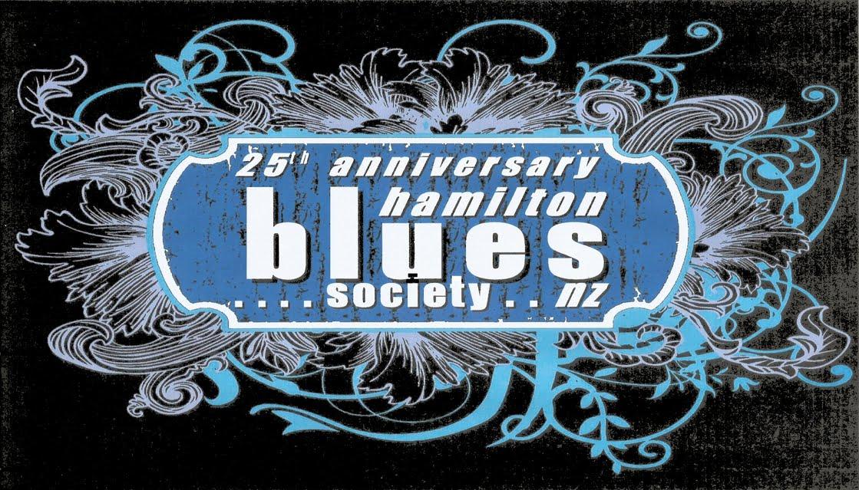 Hamilton Blues Society NZ 25th Anniversary Logo