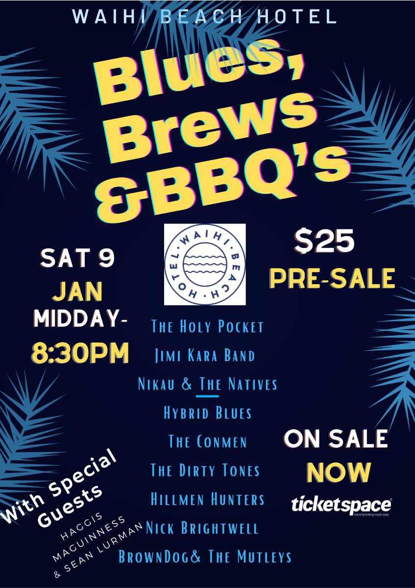 Waihi Beach Hotel - Blues, Brews & BBQs Sat 9th of Jan