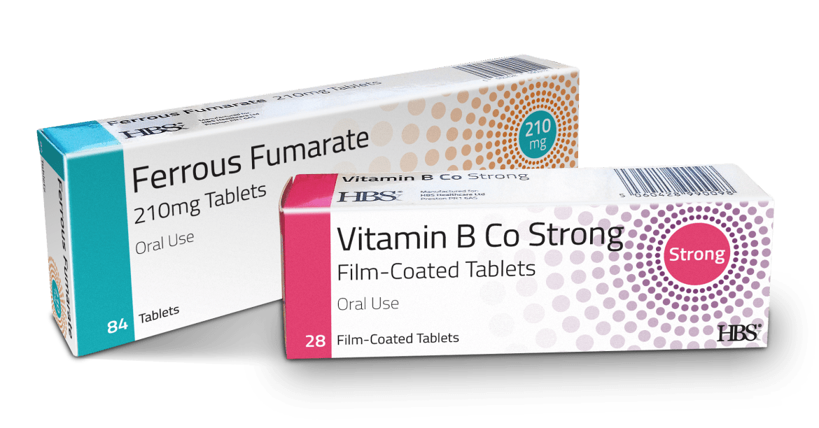 HBS Healthcare Ferrous Fumarate and Vitamin B Co Strong