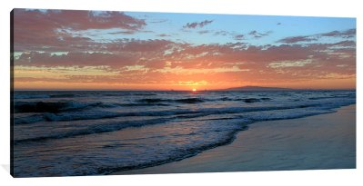 Sunset From the Cliffs Over Dog Beach – 10″ x 20″ x 3/4″