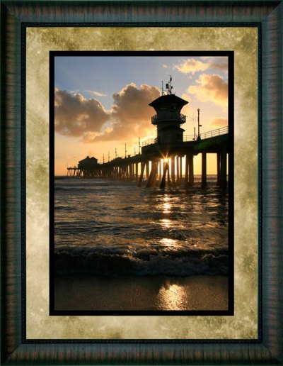 Sunburst Under the Pier