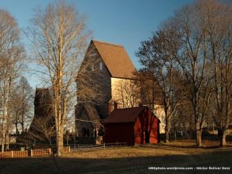 Iglesia antigua de Gamla Uppsala. Vista sureste.
