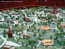 Mapa de Skansen, en miniatura.