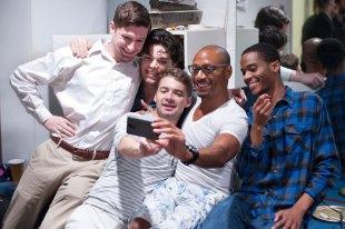 HB Studio students taking a selfie