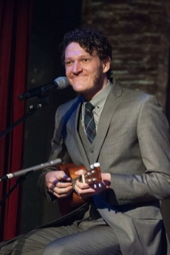 Man performing at 70th Anniversary Celebration for HB Studio, provider of NYC acting classes