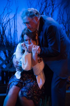 Kathryn Danielle held by Judd Hirsch onstage in Talley's Folly, a benefit for HB Studio, provider of NYC acting classes