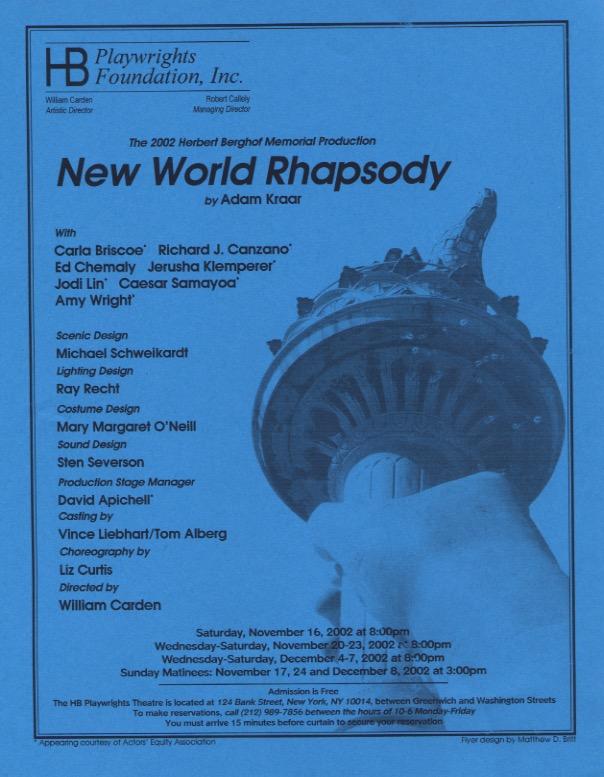 New World Rhapsody - HB Studio