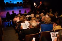 Audience at performance portion of 90th birthday celebration for Helen Gallagher, HB Studio teacher of Singing for the Musical Theater