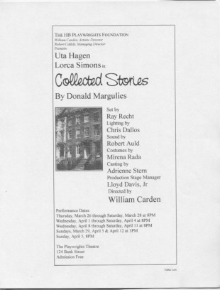 Collected Stories_Uta Hagen - HB Studio