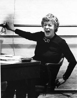 Photograph of actor/teacher Uta Hagen teaching at HB Studio