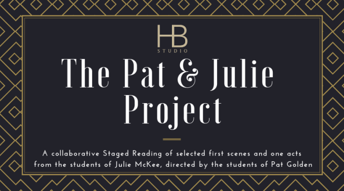 Black and gold graphic for The Pat & Julie Project