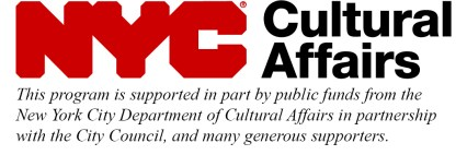 NYC Department of Cultural Affairs support statement and logo.