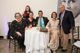 Karen Hildebrant, Thyra Teuscher, Katherine King, Ted Brunetti, Teresa Teuscher, and Jesse Feiler at HB Studio's Uta Hagen at 100 Gala