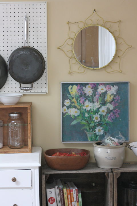 Time to go full Julia Child: The absolute best use for pegboards? Hanging heavy pots and pans, like this DIY from Rice Design Blog.Your pans will be easily accessible, and you won't have to struggle to pull them from your below-countertop shelving every time you want to cook. That's a win in our book!